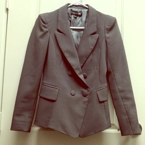 Tailored double breasted grey blazer